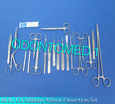 68 PC US MILITARY MINOR DISSECTION STUDENT KIT FORCEPS-ODM-509