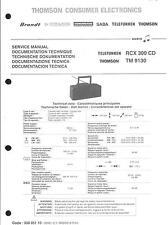 Telefunken Thomson Original Service Manual für RCX 300CD  TM 9130
