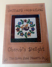 CRAFT EMBROIDERY STITCHERY APPLIQUE PATTERN FLOWERS & ANGEL CUSHION WALL HANGING