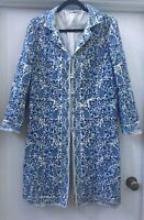 Scanlan Theodore Coat 12 Embroidered, Indian, Bohemian, Blue , Vintage