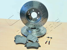 FOR MERCEDES CLK 270 CDi FRONT DRILLED 300mm BRAKE DISCS PAD PADS SET UPGRADED