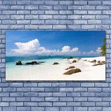 Glasbilder Wandbild Druck auf Glas 140x70 Strand Steine Landschaft