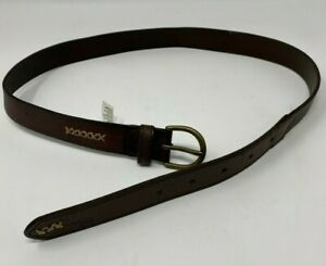 ABERCROMBIE & Fitch Girls S/M BROWN LEATHER BELT