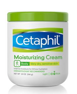 Cetaphil Moisturizing Cream Very Dry Sensitive Skin Extra Strength 20 Oz