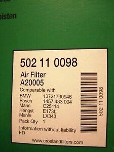 Bmw X3 3.0i Crosland Air Filter.