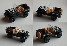 "MATCHBOX-JEEP WILLYS NERO OPACO ""MP MILITARY POLICE"""