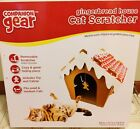 New  Companion Gear Gingerbread House Cat Scratcher, for small  medium cats