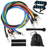 11 Pcs Pull Rope Resistance Band Set Workout Gym Home Fitness Yoga Exercise Tool