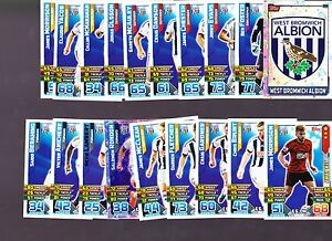 Match Attax 2015/16 West Brom WBA Base Set Badge and Away Kit Cards Topps 15/16