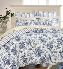 Martha Stewart FLANNEL KING  Cozy Toile Duvet Cover 100% Cotton $200