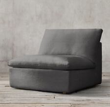 $1895 NEW RESTORATION HARDWARE CLOUD MOD LUXE ARMLESS CHAIR SLIP COVER REPLAC