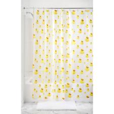 Bath Ducks Vinyl Shower Curtain Rubber Ducky Waterproof FAST, Shipping