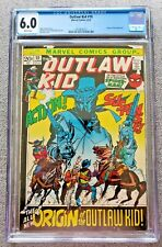Outlaw Kid #10 CGC graded 6.0 FN Jun 1972 20 cent Bronze Age Comic ORIGIN story