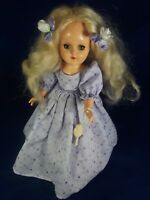 "VINTAGE IDEAL COMPOSITION DOLL ORIGINAL DRESS AND SHOES 14"" Ca. 1950"