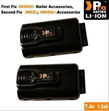 2 x Paslode sostitutiva da 1,5 Ah 7.4 V batteria al litio im65i / im360ci / 0012-7