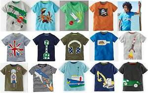 Mini Boden t-shirt top Boys Applique cotton 1 - 8 years new short sleeve tee car