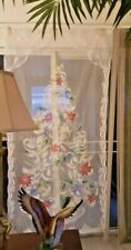 NEW~Battery Lighted Christmas Tree Wall Hanging/Curtain Panel~LED Light Up~Lace