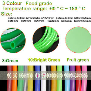 Green Silicone Vacuum Vac Hose Pipe Tube Water Air Food Grade Beer Pipe All Size