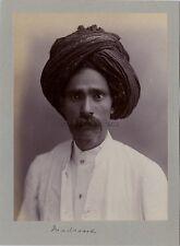 Portrait d'un Musulman Madrane Inde Asie Pakistan Vintage citrate ca 1900