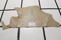 Almond Beige Scrap Leather Remnant smooth grain. Appx 2 sqft D1W29-5RL