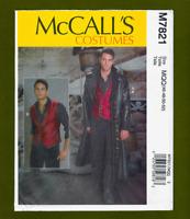 Mens Long Coat/Duster & Vest Sewing Pattern~Costume (Sizes 46-52) McCalls 7821