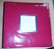 The Photo Album Company Memo Slip- In 8 x 9  Album Ruby Red Holds 100 6 x 4 in.