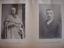 Portraits Phototypie Monseigneur Pierre François COTTON Docteur Michel COUTURIER