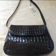 Luciano Soprani Black Crocodile Purse Bag NEW w/ Tags