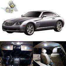 8 x Xenon White LED Interior Light Package Kit For Chrysler Crossfire 2004- 2008