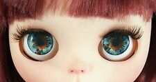 Blythe Doll Realistic Soft Eye Chips - Blue and Brown #2 EyeChips US SELLER