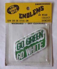 "VTG NIP Go Green Go White MSU Rectangle Patch 3 1/2"" x 1 3/4"" New Old Stock"