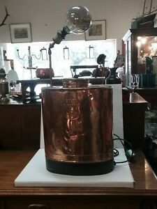 Vintage French Copper Agricultural Spray Converted To A Lamp