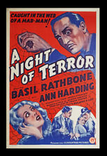 Agatha Christie, Story / A Night of Terror Original Film Poster 1937