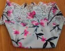 Victoria's Secret PINK Lace Trim Thong Starbright Floral  Small NIP
