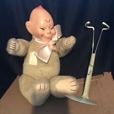 Vintage Horseman Billiken Doll with stand faded stamp on chest with tag