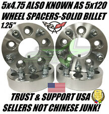 5X4.75 WHEEL SPACERS 1.25 INCH 12X1.5 ALSO KNOWN AS 5X120 CAMARO CORVETTE S-10