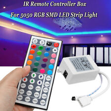 44 Key IR Remote Controller Receiver Box For 12V 3528 5050 RGB LED Strip  !