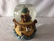 Vintage NOAHS ARK GLOBE MUSIC BOX Plays IT'S A SMALL WORLD, BEAUTIFUL MUST HAVE