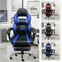 Executive Racing Gaming Office Chair Swivel Recliner Computer Desk Chair Leather