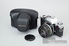 Miranda DX-3 35mm SLR Film Camera + Miranda Auto EC 50mm f/1.4 Lens w/ Case
