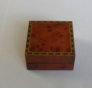 Quality Luxury Wooden Walnut Finish Jewellery Presentation Earring Pendant Box