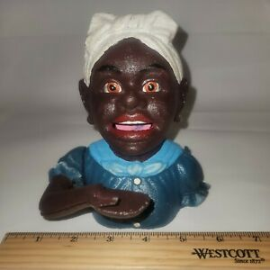 Fantastic!!!  John Harper - Cast Iron Bank - Black Americana - Original