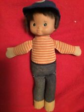 "Vintage 1978 Fisher Price #240 My Friend Mikey 10"" Boy Doll With Hat"