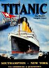 Vintage Titanic 1912 Worlds Largest Ship White Star Line Print Picture A4