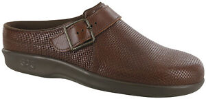 SAS Clog Brown Woven Women's Shoes FREE SHIPPING Many Sizes And Widths New