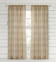 Bee & Willow™ -  Buffalo Check - 63' - Window Curtain Panel - Taupe - 1 Ct.