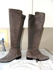 MICHAEL KORS BROMLEY SIDE ZIP SUEDE GREY BOOTS SZ 5.5 + 2 MARC JACOBS DUST BAGS