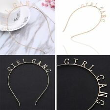 Creative Girl Gang Hairband Letter Metal Party Birthday Headband Hair Accessory