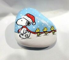 Hand Painted Rock Art Snoopy Woodstock & Friends Peanuts Collectible