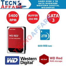 Hard Disk HDD per NAS WD Western Digital Red 2TB NASware 3.0 WD20EFAX